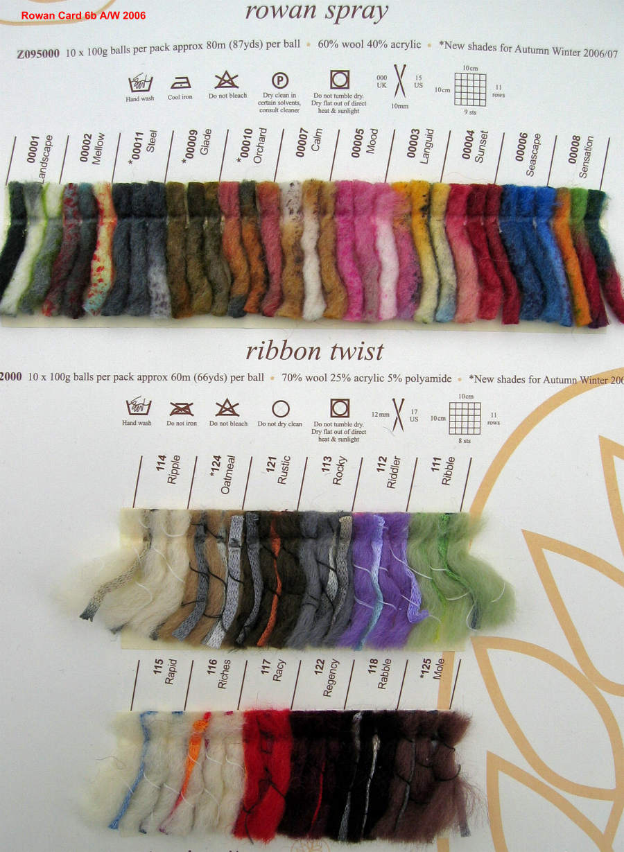 Rowan Spray Rowan Yarns Ryc Sirdar Sublime English Yarns