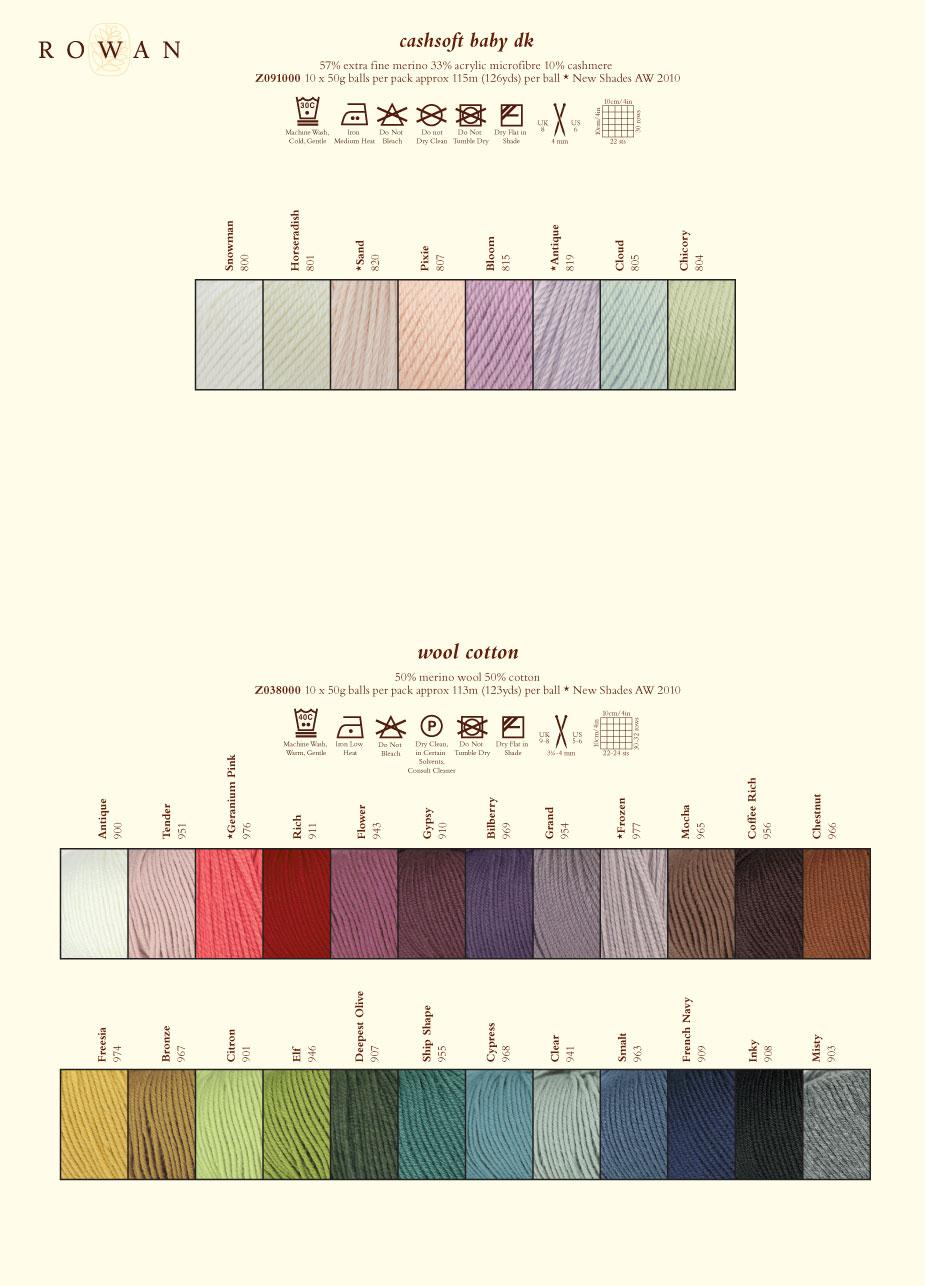 Knitting Patterns Rowan Wool Cotton : Rowan Classic Cashsoft Baby DK - Rowan Yarns RYC Sirdar Sublime English Yarns...