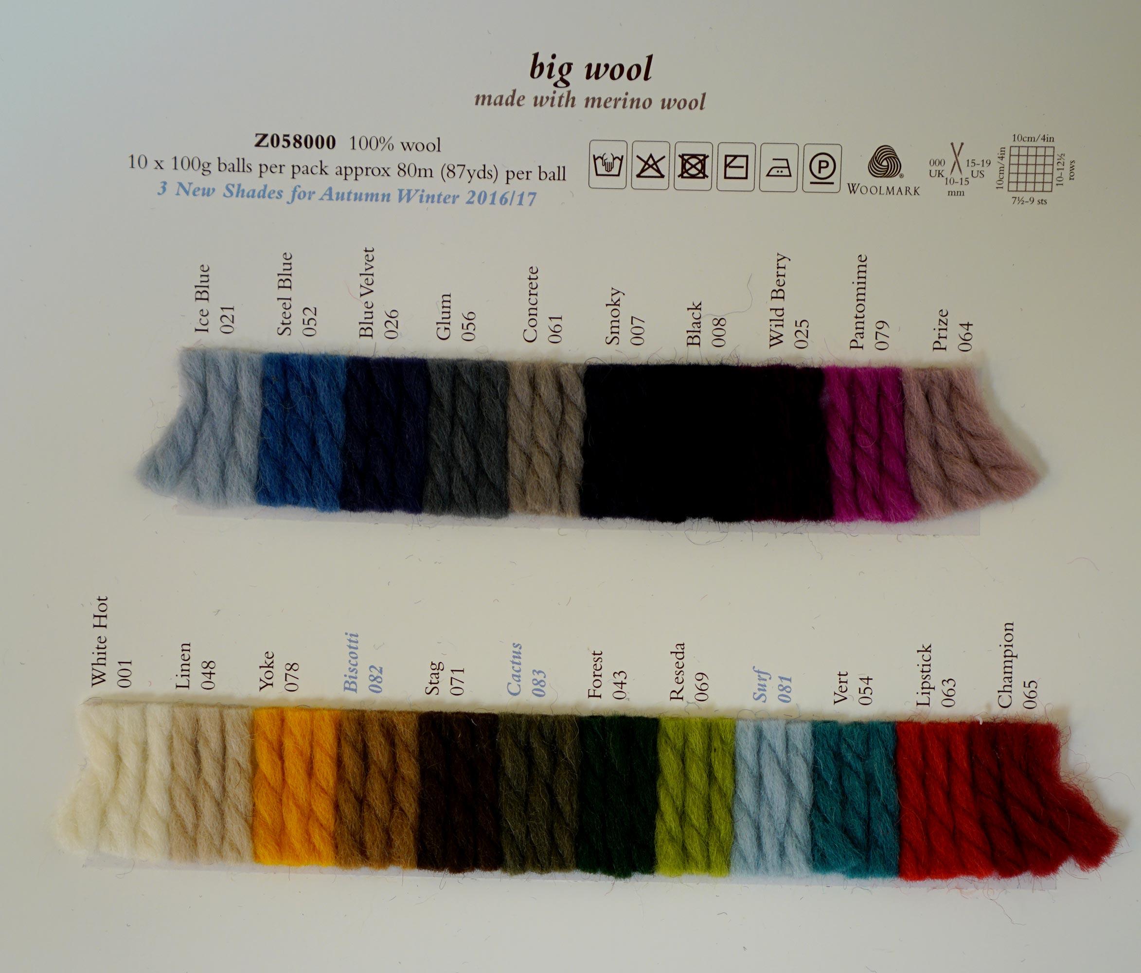 Knitting Patterns For Rowan Big Wool : Rowan Big Wool 100g - Rowan Yarns RYC Sirdar Sublime English Yarns knitting w...