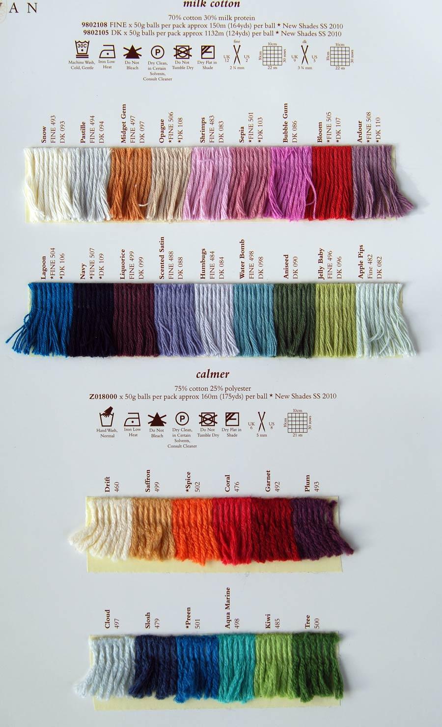 Knitting Patterns Rowan Wool Cotton : Rowan Milk Cotton DK - Rowan Yarns RYC Sirdar Sublime English Yarns knitting ...