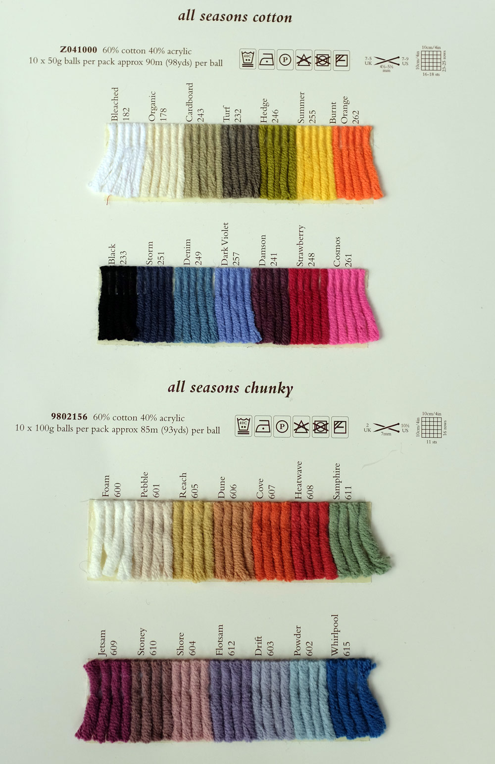 Knitting Patterns Rowan Wool Cotton : Rowan All Seasons Chunky - Rowan Yarns RYC Sirdar Sublime English Yarns knitt...