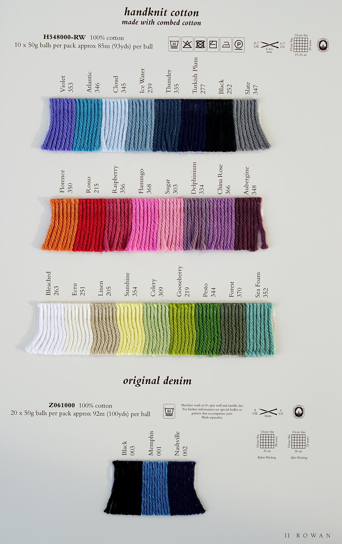 Rowan Handknit DK Cotton - Rowan Yarns RYC Sirdar Sublime English Yarns knitt...