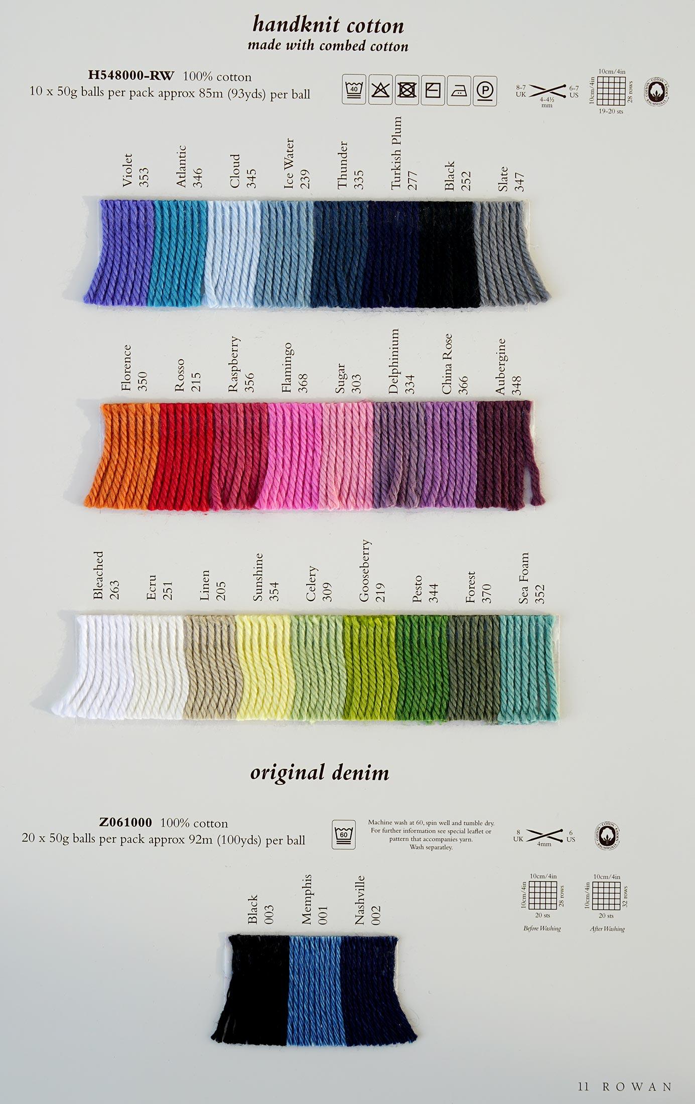 Knitting Patterns Rowan Wool Cotton : Rowan Handknit DK Cotton - Rowan Yarns RYC Sirdar Sublime English Yarns knitt...