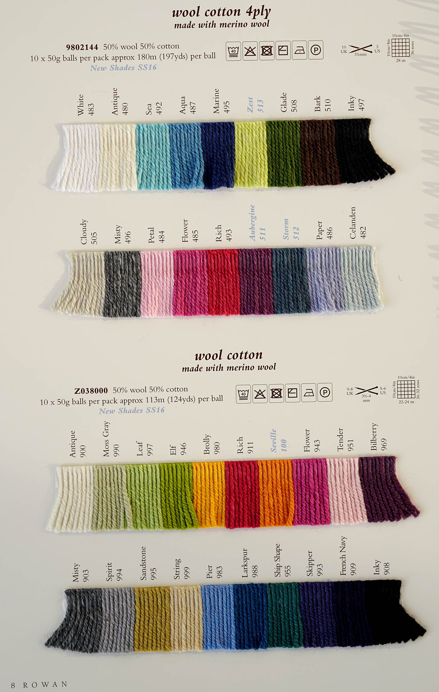 Rowan Wool Cotton Dk Rowan Yarns Ryc Sirdar Sublime