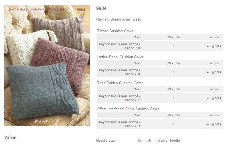 Hayfield Aran Knitting Pattern Books : Sirdar Pattern Leaflets using Hayfield Bonus Aran Tweed ...