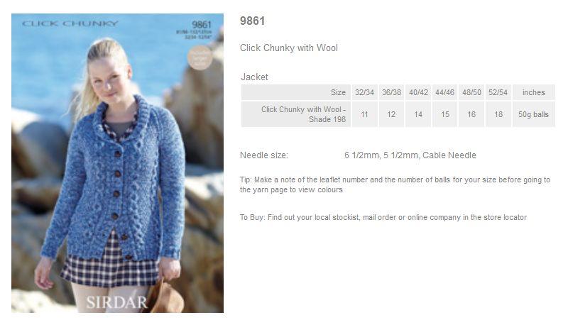 Sirdar Pattern Leaflets Using Click Chunky With Wool Rowan Yarns