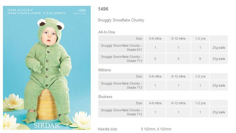 3a4d3943d Sirdar Pattern Leaflets using Snowflake Chunky - Rowan Yarns RYC ...