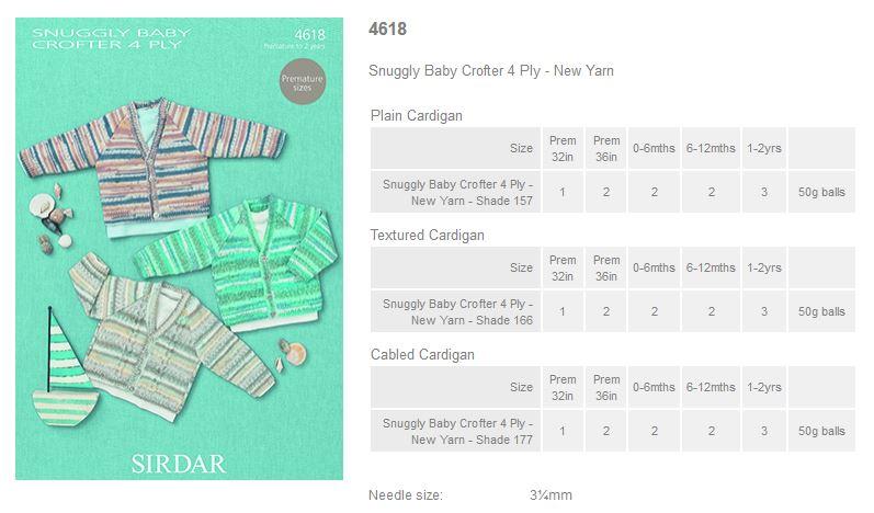 fe56601f7 Sirdar Pattern Leaflets using Snuggly Baby Crofter 4ply - Rowan ...
