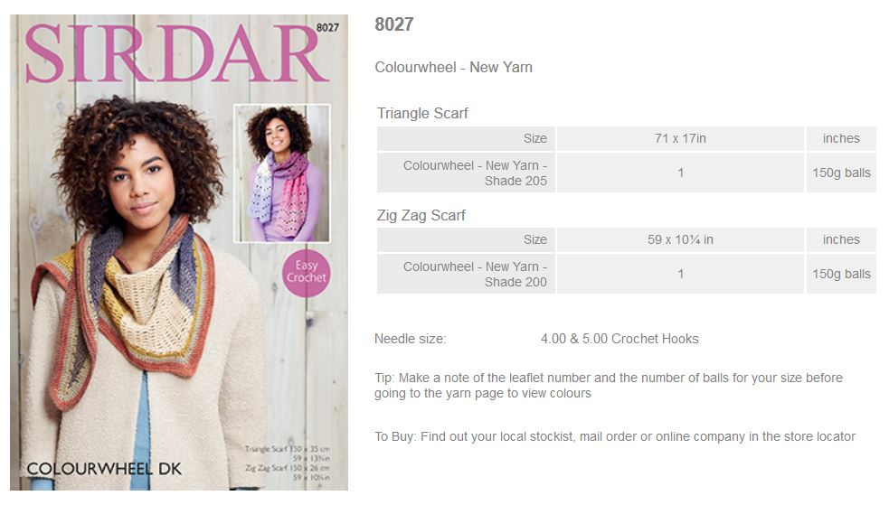 Sirdar Pattern Leaflets using Colourwheel - Rowan Yarns RYC Sirdar Sublime En...