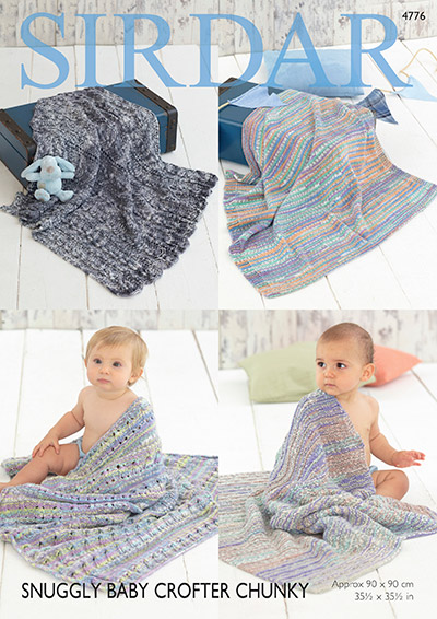 Sirdar Pattern Leaflets Using Snuggly Baby Crofter Chunky