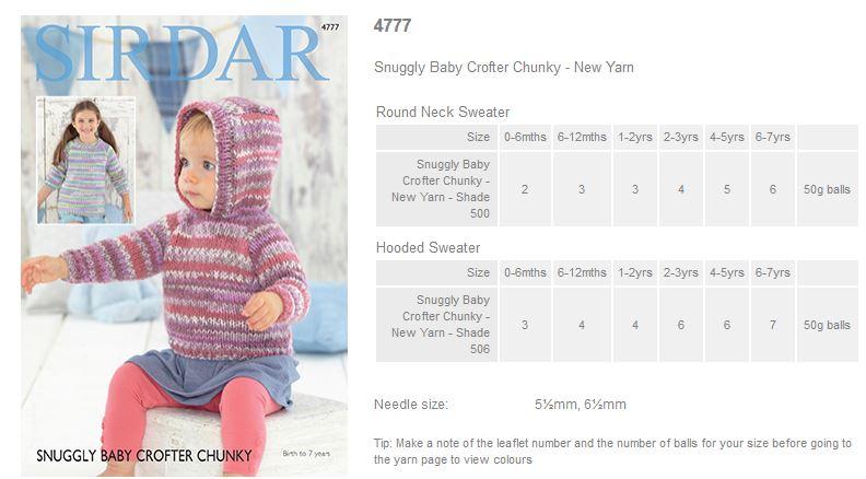 e4cf7a79633c Sirdar Snuggly Baby Crofter Chunky - Rowan Yarns RYC Sirdar Sublime ...